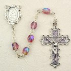 June Birthstone Rosary (Alexandrite) - Rhodium Plated