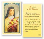 St. Theresa Laminated Prayer Cards 25 Pack