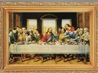 Last Supper Antique Gold Framed Print
