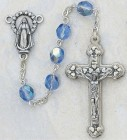 December Birthstone Rosary (Zircon) - Silver Oxidized