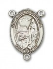 Our Lady of Lourdes Rosary Centerpiece Sterling Silver or Pewter