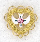 Heart with Cloisonne Dove Lapel Pin (12 pieces per order