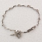 "First Communion Heart Bracelet with Miraculous Charm - 6 1/2""L"