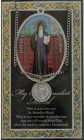 St. Benedict Medal in Pewter with Bi-Fold Prayer Card