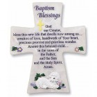 Baptism Blessings Wall Cross