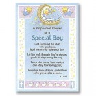 Baptism Prayer Greeting Card - Boy