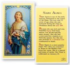 St. Agnes Biography Laminated Prayer Cards 25 Pack