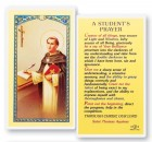 Student's Prayer St. Thomas Laminated Prayer Cards 25 Pack