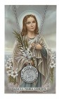 Round St. Maria Goretti Medal with Prayer Card