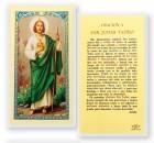 Oracion A San Judas Tadeo Laminated Spanish Prayer Cards 25 Pack