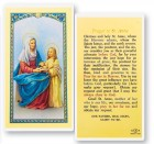 Prayer To St. Anne Laminated Prayer Cards 25 Pack