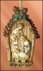 Fioretti Woodland Holy Family Christmas Ornament - 4 per order