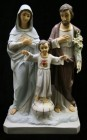 Holy Family Statue Hand Painted Marble Composite - 26 inch