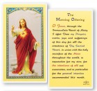 The Morning Offering Laminated Prayer Cards 25 Pack