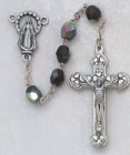 January Birthstone Rosary (Garnet) - Silver Oxidized