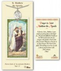 St. Matthew the Apostle Medal in Pewter with Prayer Card