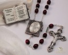 Ghirelli Lourdes Rosary, 7mm wood beads, Baroque Crucifix