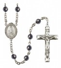 Men's St. Bartholome with the Apostle Silver Plated Rosary