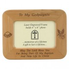 Maple Wood Godparents Photo Frame