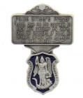 "St. Michael Police Officer Prayer Visor Clip, Blue Enamel, Pewter - 2 1/4""H"