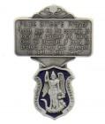 """St. Michael Police Officer Prayer Visor Clip, Blue Enamel, Pewter - 2 1/4""""H"""