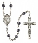 Men's St. Theresa Silver Plated Rosary