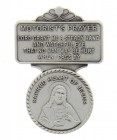 "Sacred Heart Motorist's Prayer Visor Clip, Pewter - 2 1/4""H"