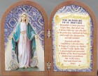 Our Lady of Grace Diptych Standing Prayer Plaque