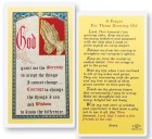 Prayer For Those Growing Old Laminated Prayer Cards 25 Pack