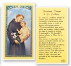 St. Anthony, Unfailing Laminated Prayer Cards 25 Pack