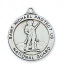St. Michael National Guard Medal Sterling Silver
