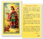St. Florian Fireman Laminated Prayer Cards 25 Pack