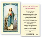 St. Catherine of Alexandria Laminated Prayer Cards 25 Pack