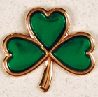 Shamrock Green Lapel Pin (12 per order)