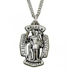 St. Florian Fire Fighter Pendant - Sterling Silver