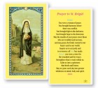 St. Brigid Laminated Laminated Prayer Cards 25 Pack