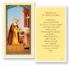 Prayer To St. Rose of Lima Laminated Prayer Cards 25 Pack
