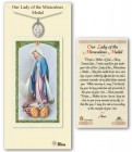 Miraculous Medal in Pewter with Prayer Card