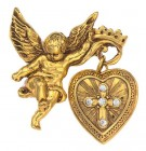 Glory of the Cross Angel Locket Pin