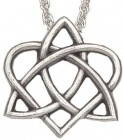 "Celtic Trinity Heart Pendant - 1"" H"