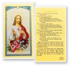 Learning Christ Sacred Heart of Jesus Laminated Prayer Cards 25 Pack