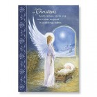 Angel at Manger Christmas Card Box Set