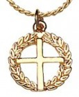 Cross on Wreath Pendant [TCG0379]
