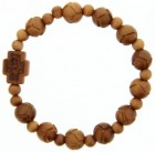 Jujube Wood Carved Rosary Bracelet - 10mm