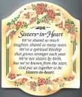 Sisters In Heart Wall Plaque