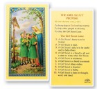 The Girl Scout Promise Laminated Prayer Cards 25 Pack