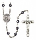 Men's San Cristobal Silver Plated Rosary