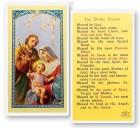 The Divine Praises, Holy Family Laminated Prayer Cards 25 Pack