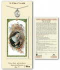 St. Rita of Cascia Medal in Pewter with Prayer Card