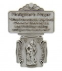"St. Florian Firefighter Prayer Visor Clip, Pewter - 2 1/8""H"